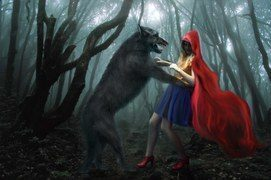 La historia del lobo de Caperucita Roja